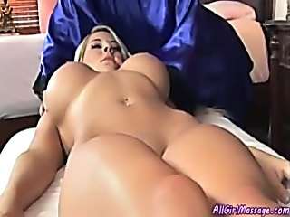 Babe Big Tits Blonde Cute Massage Shaved