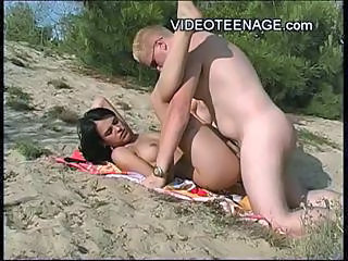 Beach Brunette Hardcore Nudist Outdoor Teen Young