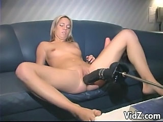 The Blonde One Who Loves Dildo So Much In Her Sizzling Solo