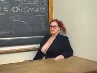 Big Tits Bus Glasses MILF Natural SaggyTits School Teacher