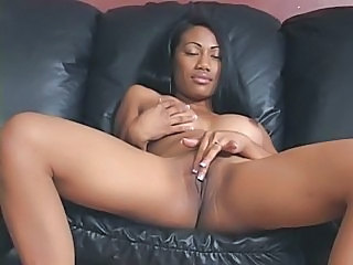 Amazing Brunette Cute Ebony Masturbating MILF Pussy Shaved