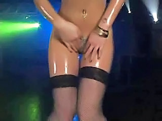 Bikini Oiled Stockings Stripper