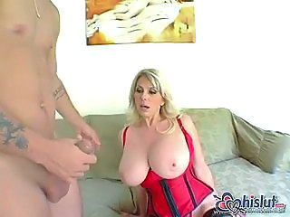 Big Tits Blonde Corset MILF Pornstar Stockings