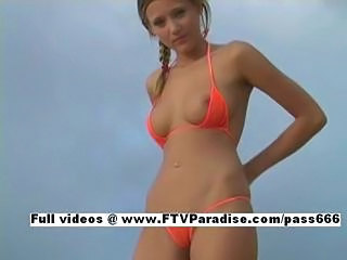 Carli ftv girls, amazing blonde on the beach