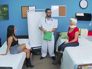 Babe Big Tits Blonde Brunette Doctor Pornstar Threesome Uniform