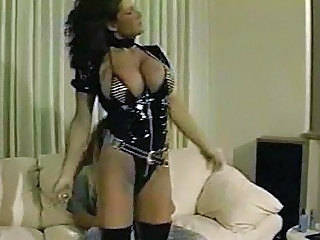 Big Tits Brunette Latex Lingerie MILF Pornstar