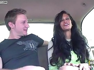 Big Tits Car Facial Latina MILF Pornstar