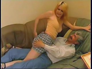 Amateur Blonde Daughter Drunk Old and Young Skirt Small Tits