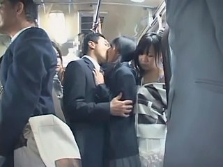 Bus Cute Japanese Kissing Public