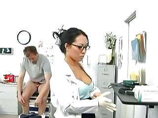 Alluring Asian doctor gets rammed by her patient