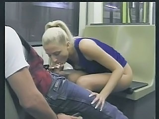 Amateur Blonde Blowjob Public