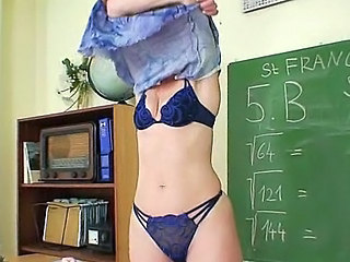 Milf teacher nasty fingering...
