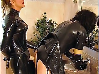 Femdom Fetish German Latex Strapon