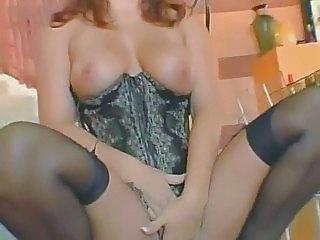 sexy redhead in stocking loves anal