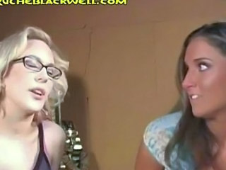 Blonde Brunette Glasses MILF Pornstar Threesome