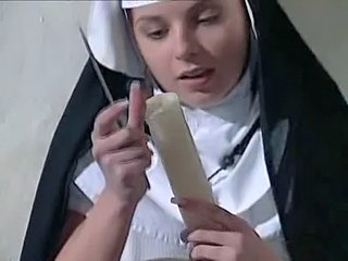 Nun and her selfmade Toy