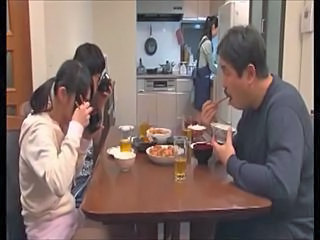 Amateur Asian Family Kitchen Mom