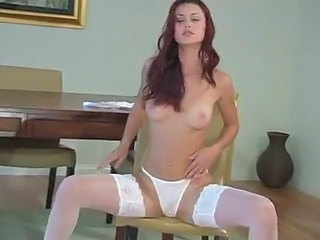 Amazing Panty Redhead Small Tits Stockings Teen