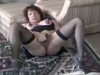 Amateur Brunette Fetish Masturbating Mature Nipples Stockings Squirt Toy