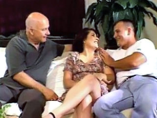 Brunette MILF Pornstar Threesome Wife