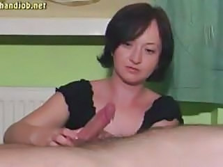 Amateur Brunette Cumshot Handjob Mature Wife