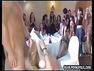 Blowjob Bride CFNM Party Public