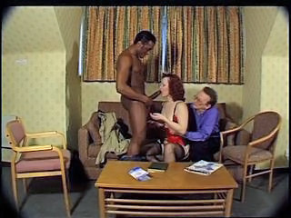 Big cock Blowjob Cuckold Interracial Mature Redhead Stockings Wife