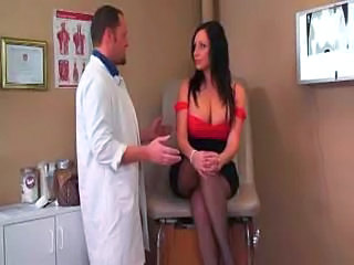 Big Tits Brunette Creampie Doctor MILF Pornstar Stockings