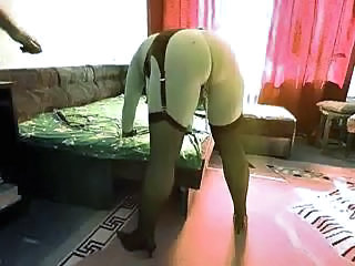 Chunky chick slave gets her ass pumped by her master's cock