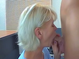 Skinny blonde pretty mature mom fucked by a guy