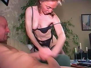 European German Handjob Lingerie Mature Older Wife