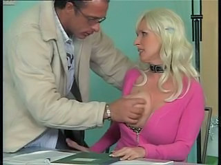 Big Tits Blonde Bus European German MILF Office Secretary