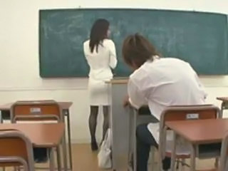 Japanese MILF Pantyhose Pornstar School Teacher
