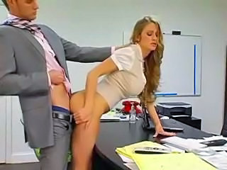 Amazing Big Tits Clothed Cute Doggystyle Long hair MILF Office Secretary