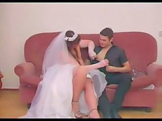 Sexy bride taking dick in her wet cunt