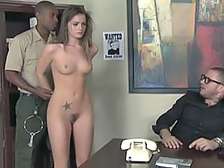 Babe Cute Interracial Office Pornstar Tattoo