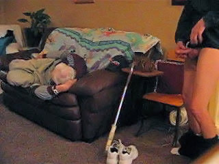 Grandpa takes a nap while I c...
