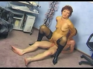 Mature Riding SaggyTits Stockings