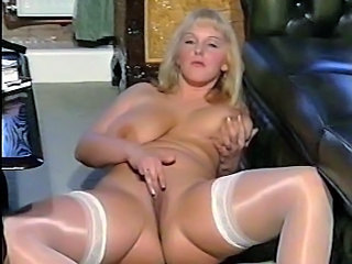 Amazing Big Tits British European Masturbating MILF Natural Pussy SaggyTits Shaved Stockings