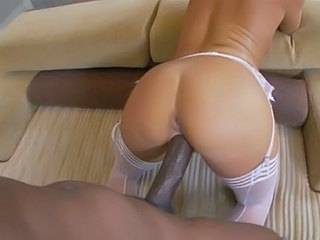 Ass Big cock Doggystyle Hardcore Interracial Stockings