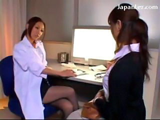 Doctor Rubbing Her Busty Patients Tits Kissing With Her At The Surgery