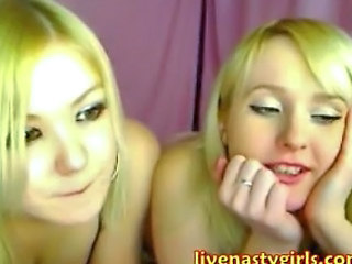 Amazing Blonde Cute Lesbian Twins Webcam
