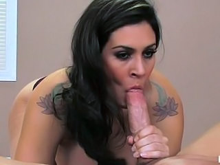 Raylene suck the cock after doing a massage to hot dude