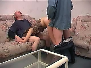 Amateur Blowjob Doggystyle Old and Young Threesome