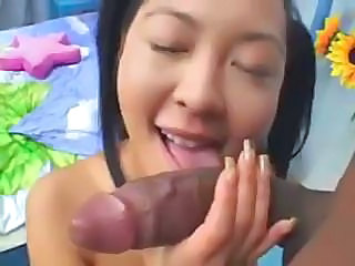 Asian Slut Liliane Gets A Large Black Di...