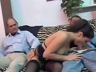 Big Tits Blowjob Italian Lingerie MILF Pornstar Stockings Threesome