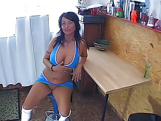 Big Tits Brunette Kitchen Mature