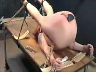 Pain For Her Pussy And Ass In Bondage Video