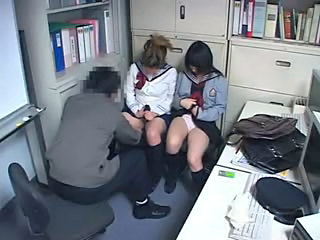 Amateur Cute Japanese Student Teen Threesome