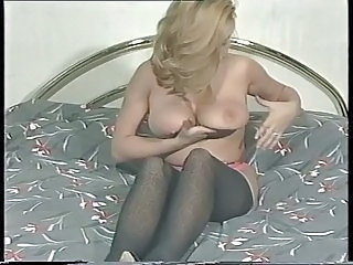 Big Tits Blonde British MILF Pornstar Stockings